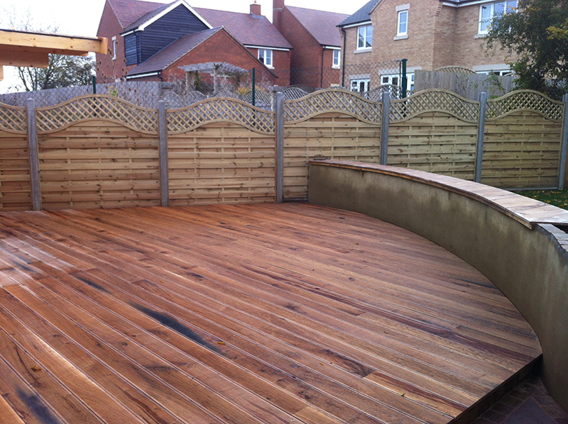 Oak Decking And Wall